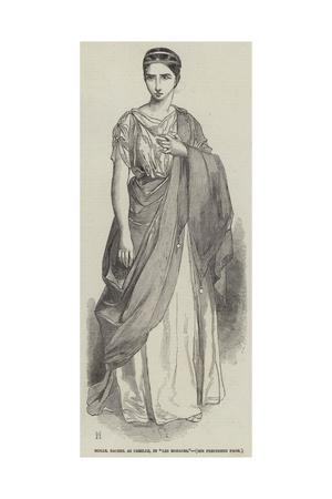 Mademoiselle Rachel as Camille, in Les Horaces