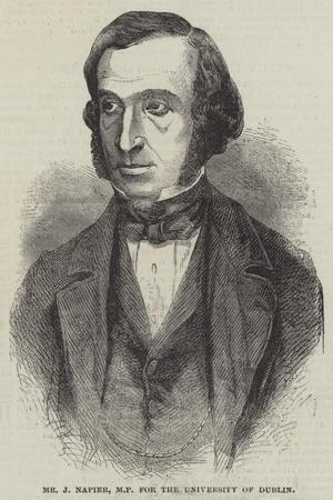 Mr J Napier, Mp for the University of Dublin