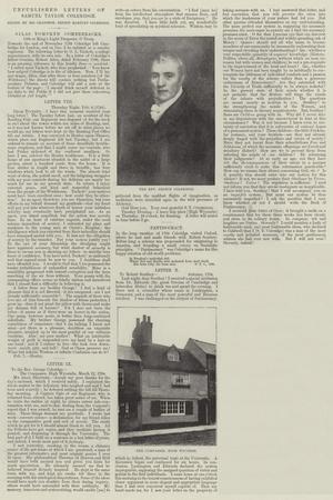 Unpublished Letters of Samuel Taylor Coleridge