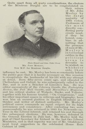 Mr John Morley, New Mp for Montrose Burghs