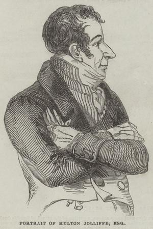 Portrait of Hylton Jolliffe, Esquire