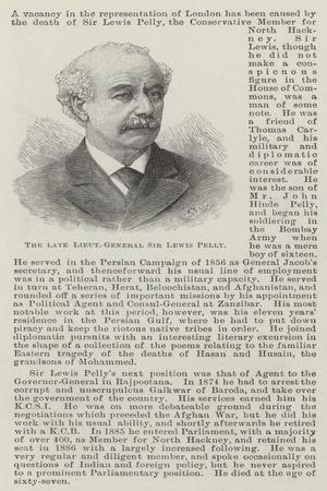 The Late Lieutenant-General Sir Lewis Pelly
