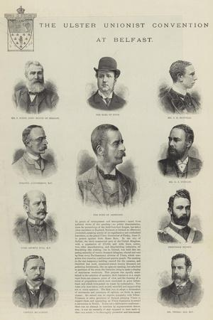 The Ulster Unionist Convention at Belfast