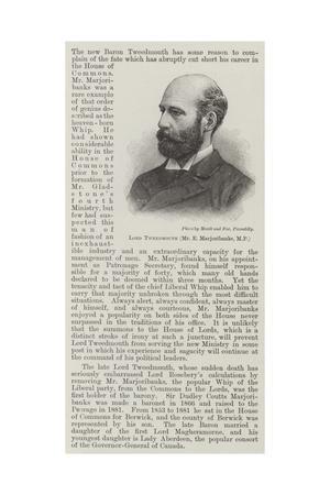 Lord Tweedmouth (Mr E Marjoribanks, MP)