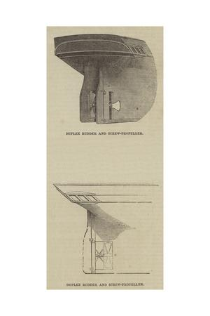 Duplex Rudder and Screw-Propeller