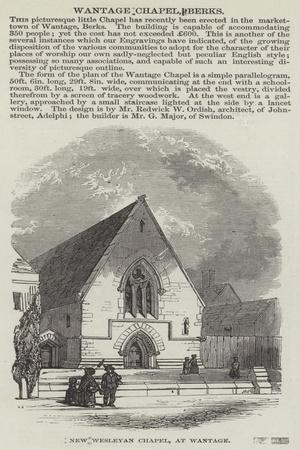 New Wesleyan Chapel, at Wantage