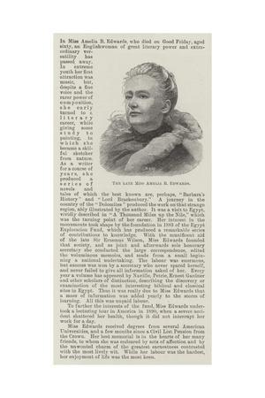 The Late Miss Amelia B Edwards