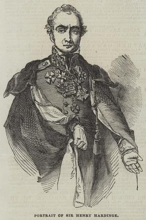 Portrait of Sir Henry Hardinge