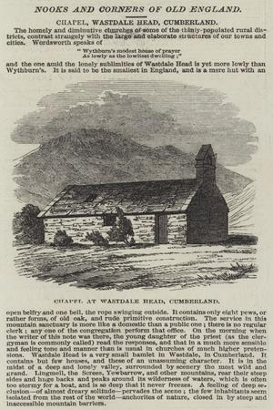 Chapel, Wastdale Head, Cumberland