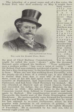 The Late Sir Robert Peel, Baronet