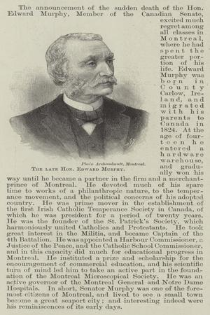 The Late Honourable Edward Murphy