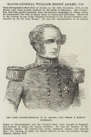 Major-General William Henry Adams