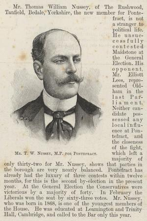Mr T W Nussey, Mp for Pontefract