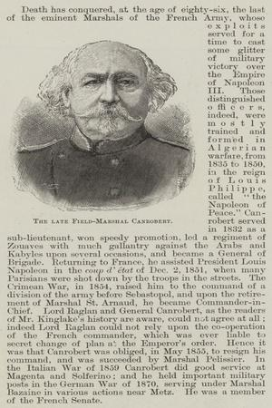 The Late Field-Marshal Canrobert
