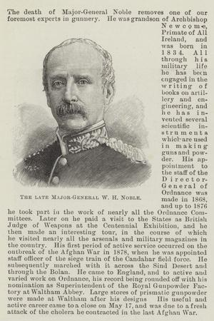The Late Major-General W H Noble