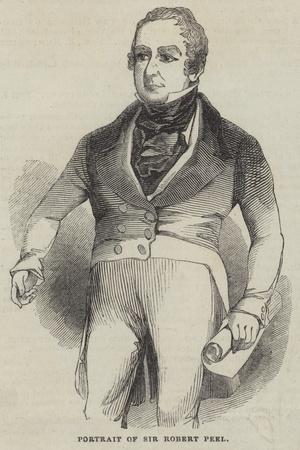 Portrait of Sir Robert Peel