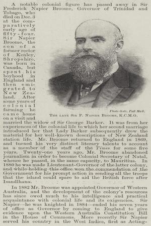 The Late Sir F Napier Broome