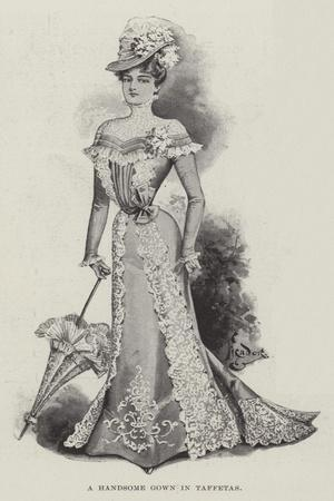 A Handsome Gown in Taffetas