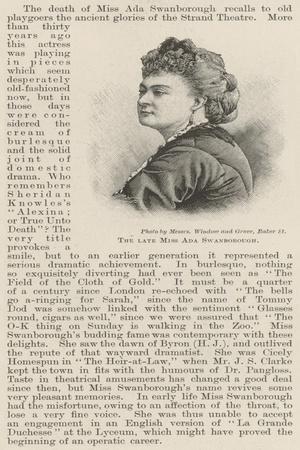 The Late Miss Ada Swanborough