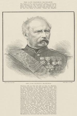 The Late Marshal Macmahon