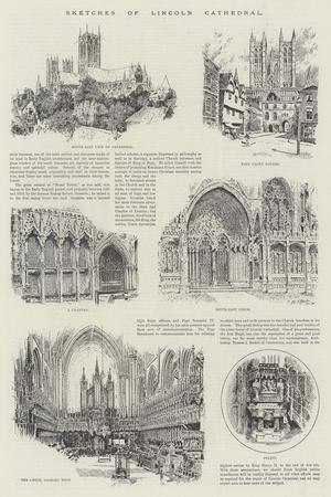 Sketches of Lincoln Cathedral