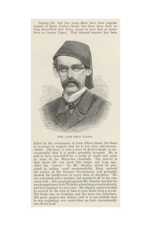 The Late Emin Pasha