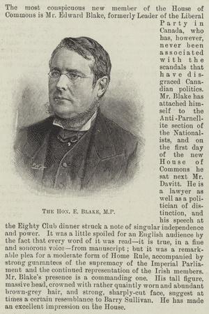 The Honourable E Blake