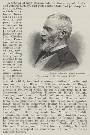The Late C H Pearson