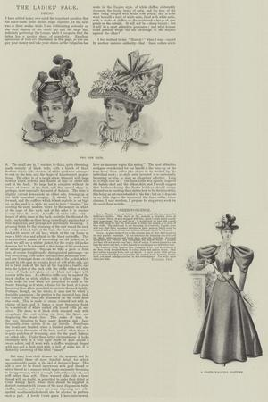 The Ladies' Page, Dress