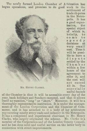 Mr Henry Clarke