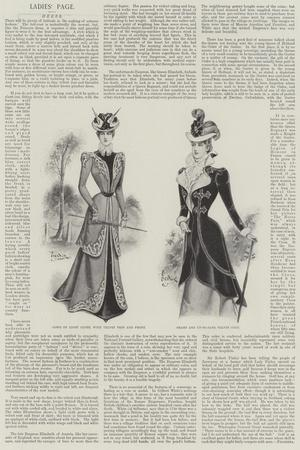Ladies' Page, Dress