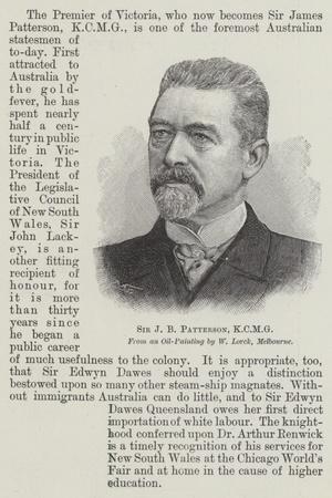 Sir J B Patterson