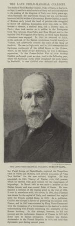 The Late Field-Marshal Cialdini, Duke of Gaeta