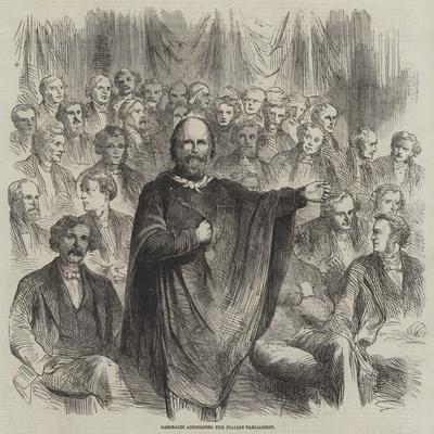 Garibaldi Addressing the Italian Parliament
