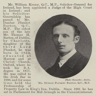 Mr Dunbar Plunket Barton