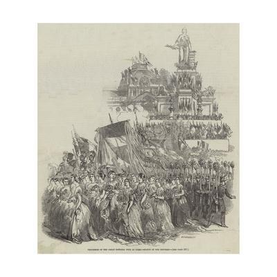 Procession of the Great National Fete at Paris, Statue of the Republic