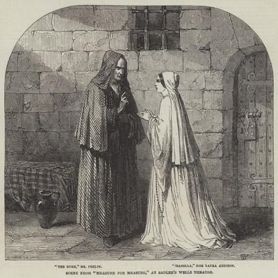 Scene from Measure for Measure, at Sadler's Wells Theatre