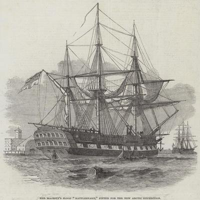 Her Majesty's Sloop Rattlesnake, Fitted for the New Arctic Expedition