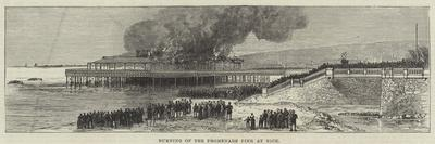 Burning of the Promenade Pier at Nice