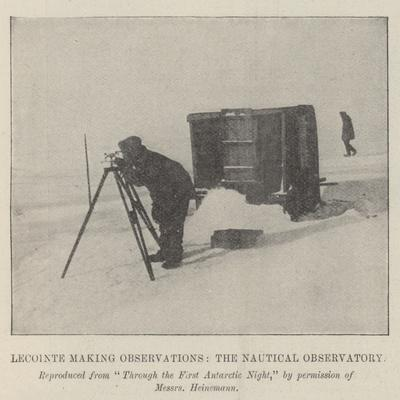 Lecointe Making Observations, the Nautical Observatory