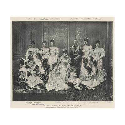 The Duke of York and His Bride, with the Bridesmaids