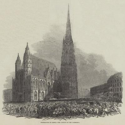 Insurrection in Vienna, the Conflict at the Cathedral