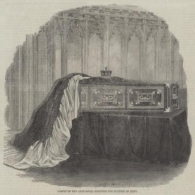 Coffin of Her Late Royal Highness the Duchess of Kent