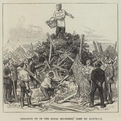 Breaking Up of the Royal Engineers' Camp on Dartmoor