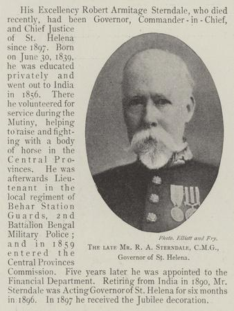 The Late Mr R a Sterndale, Cmg, Governor of St Helena