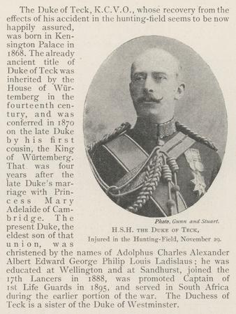 Hsh the Duke of Teck, Injured in the Hunting-Field, 29 November