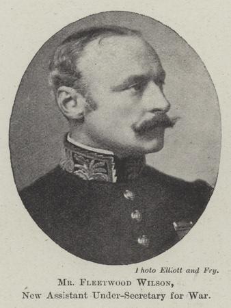 Mr Fleetwood Wilson, New Assistant Under-Secretary for War