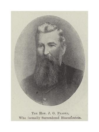 The Honourable J G Fraser, Who Formally Surrendered Bloemfontein