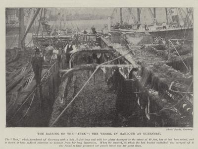 The Raising of the Ibex, the Vessel in Harbour at Guernsey