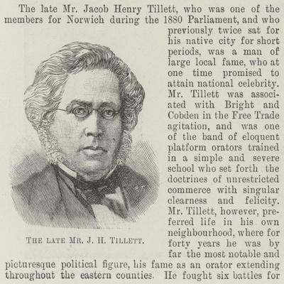 The Late Mr J H Tillett